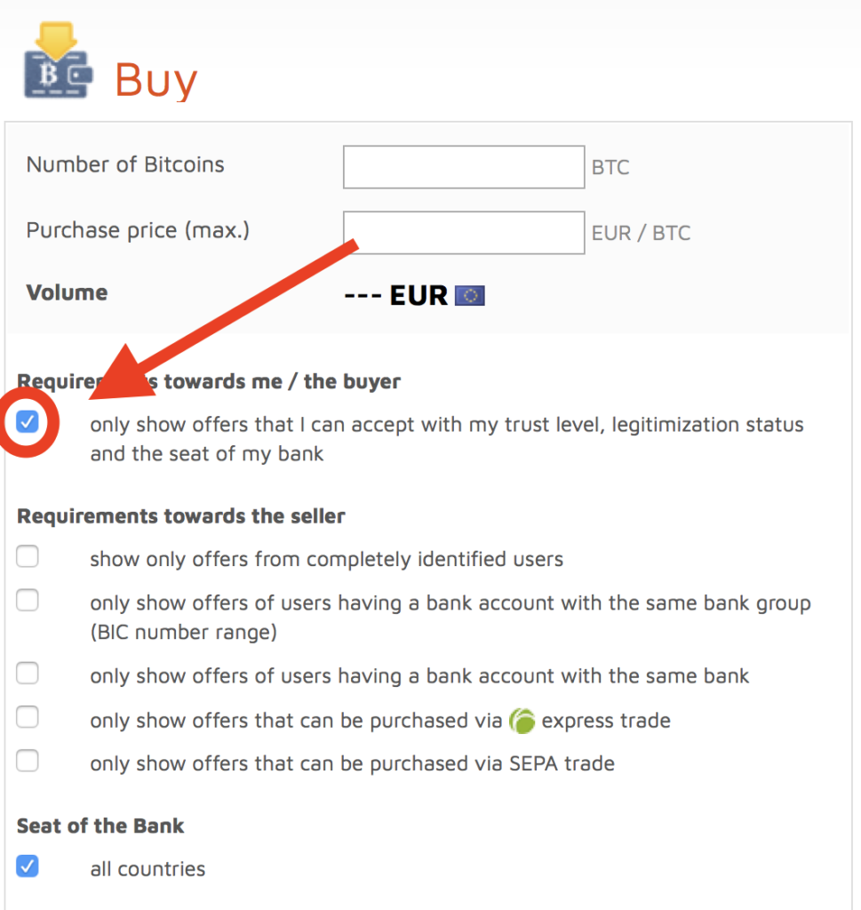 bitcoin.de offers that I can accept